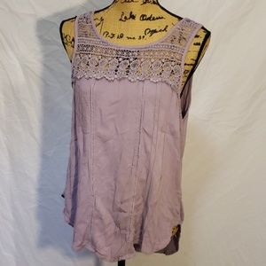 Maurices Women's Sleeveless Blouse Lace Tank Top